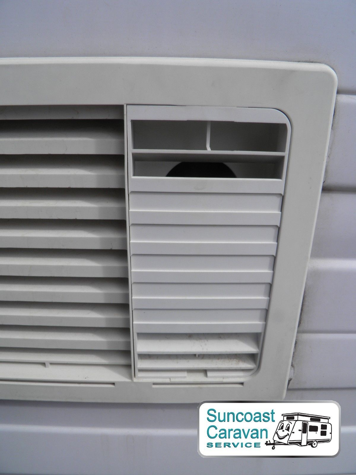 Dometic Caravan Fridge Upper Vent Small Insert White