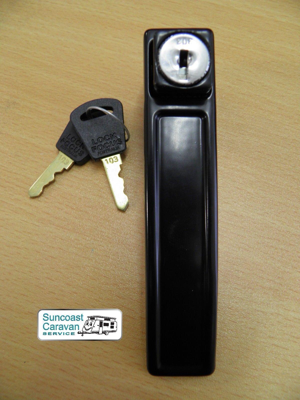 Panorama Vintage Caravan Door Lock Outer Handle 2 Keys