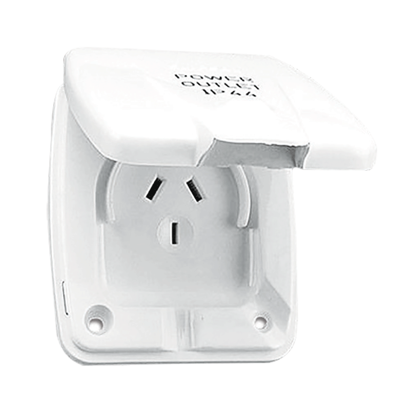 Clipsal White External 10amp Power Outlet 3 Pin Ip44
