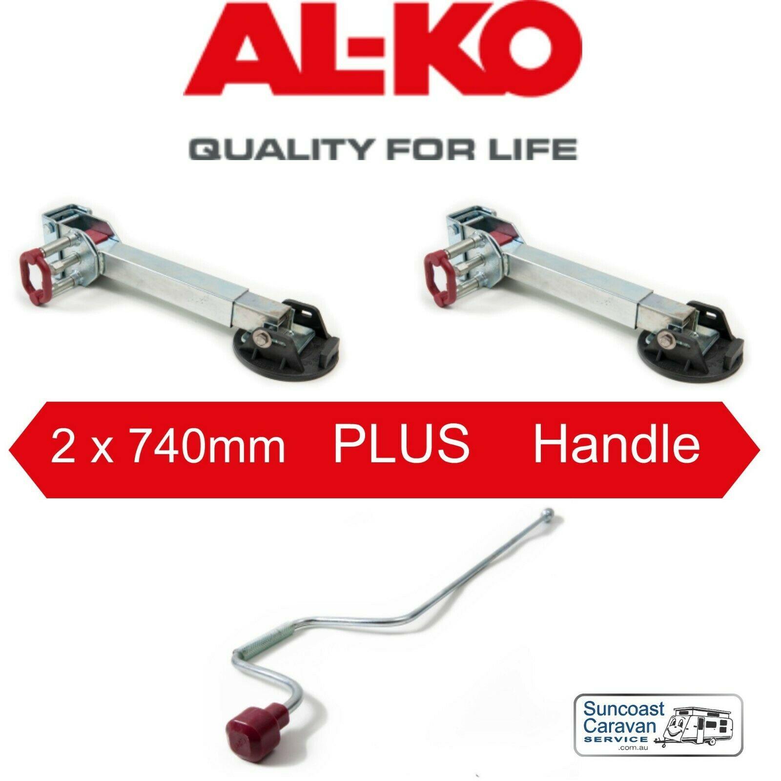 ALKO 2 x 740mm Corner Steady Drop Down Legs PLUS 1 x 800mm