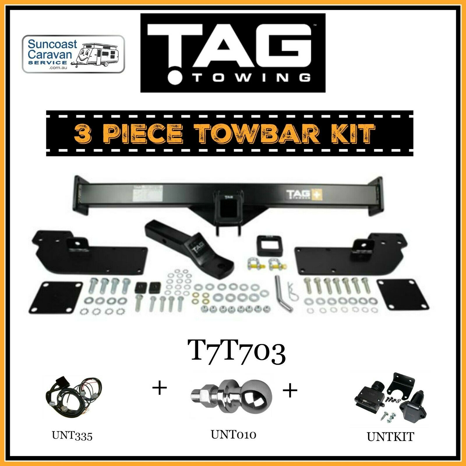 TAG 3Pce Towbar Kit-Bar Wiring Harness Towball Plug Kit ... Wiring Harness Kit For Towing on towing stone guards, dodge ignition wire harness, car towing harness, towing light harness, towing wiring connectors, towing accessories, towing cable, ford focus trailer harness,