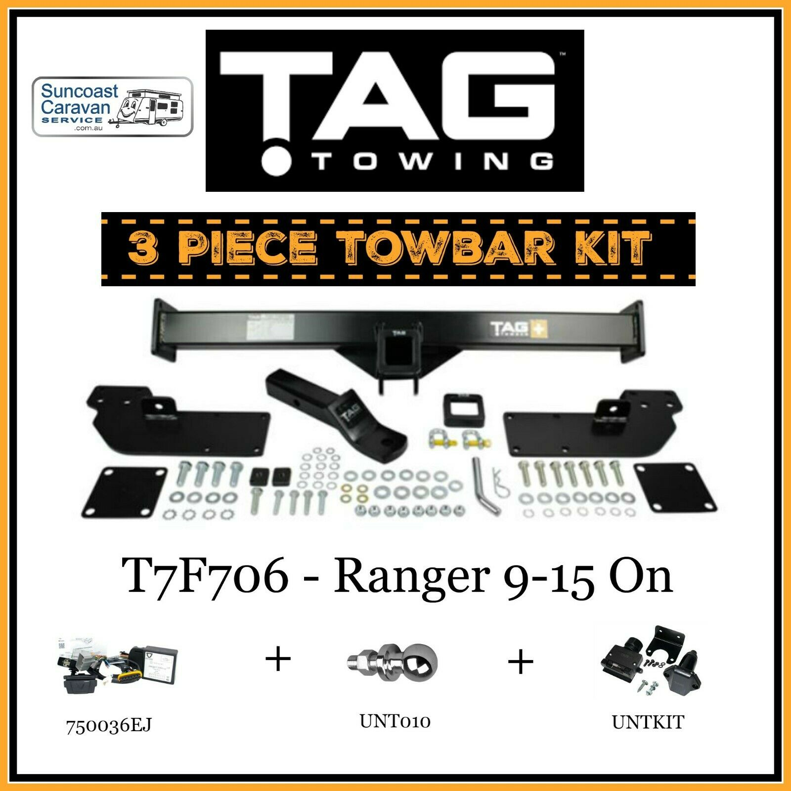 TAG 3Pce Towbar Kit-Bar Wiring Harness Tball & PlugKit ... Tow Bar Wiring Harness on tow license plate bracket, tow cable, tow lights,