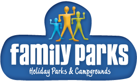 family parks logo suncoast caravan service partner
