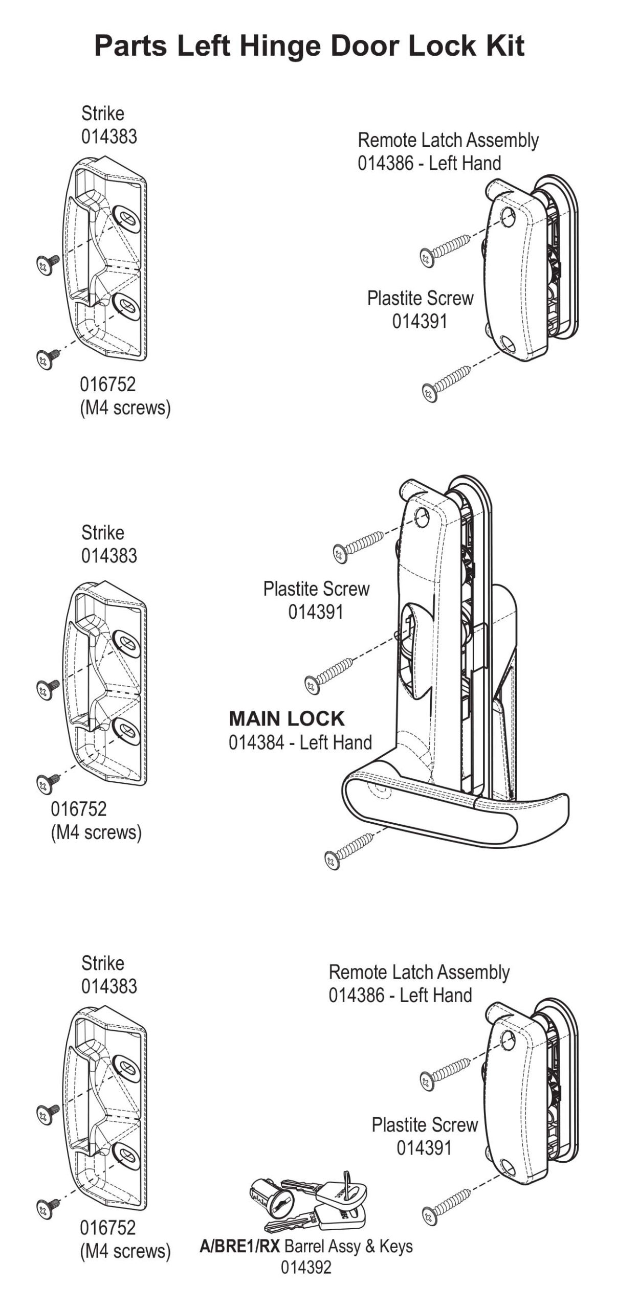 Picture of: Camec Security Door Lock Replacement Instructions Spare Parts Info