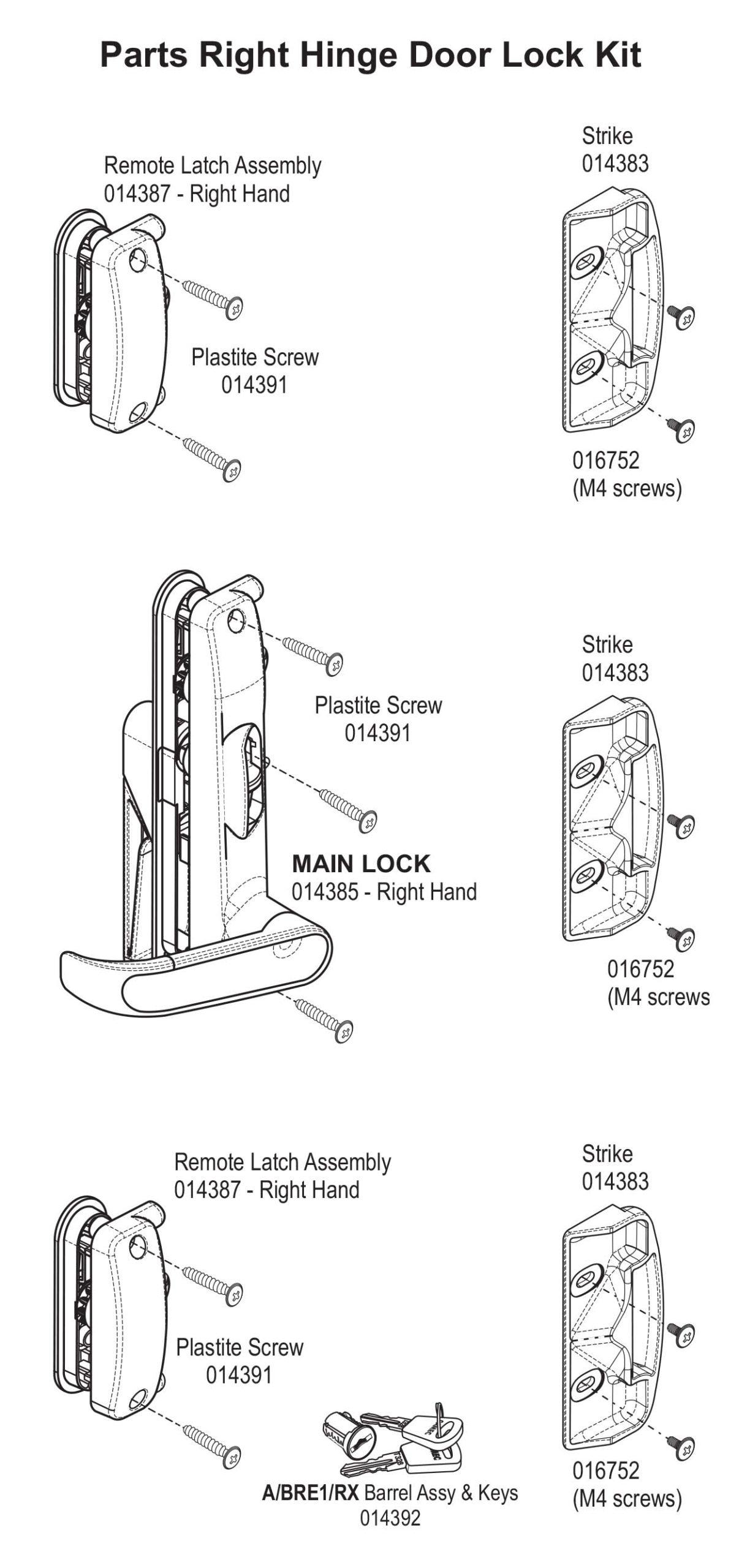 Camec Security Door Lock Replacement Instructions Spare Parts Info