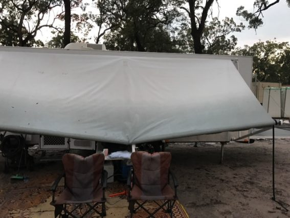 damaged caravan awning for insurance repairs