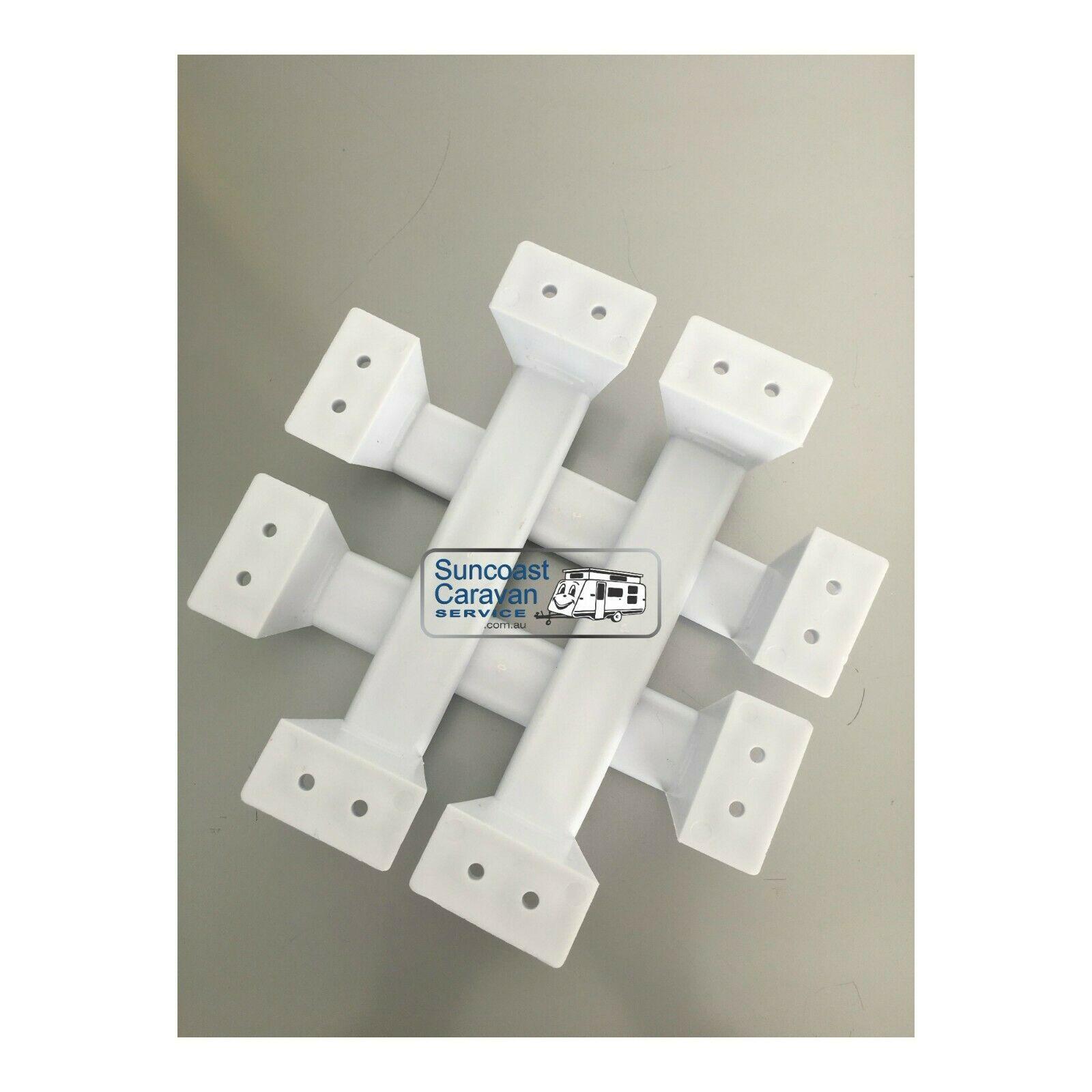 Camec Caravan Grab Handles White Plastic Set Of 4 Uv
