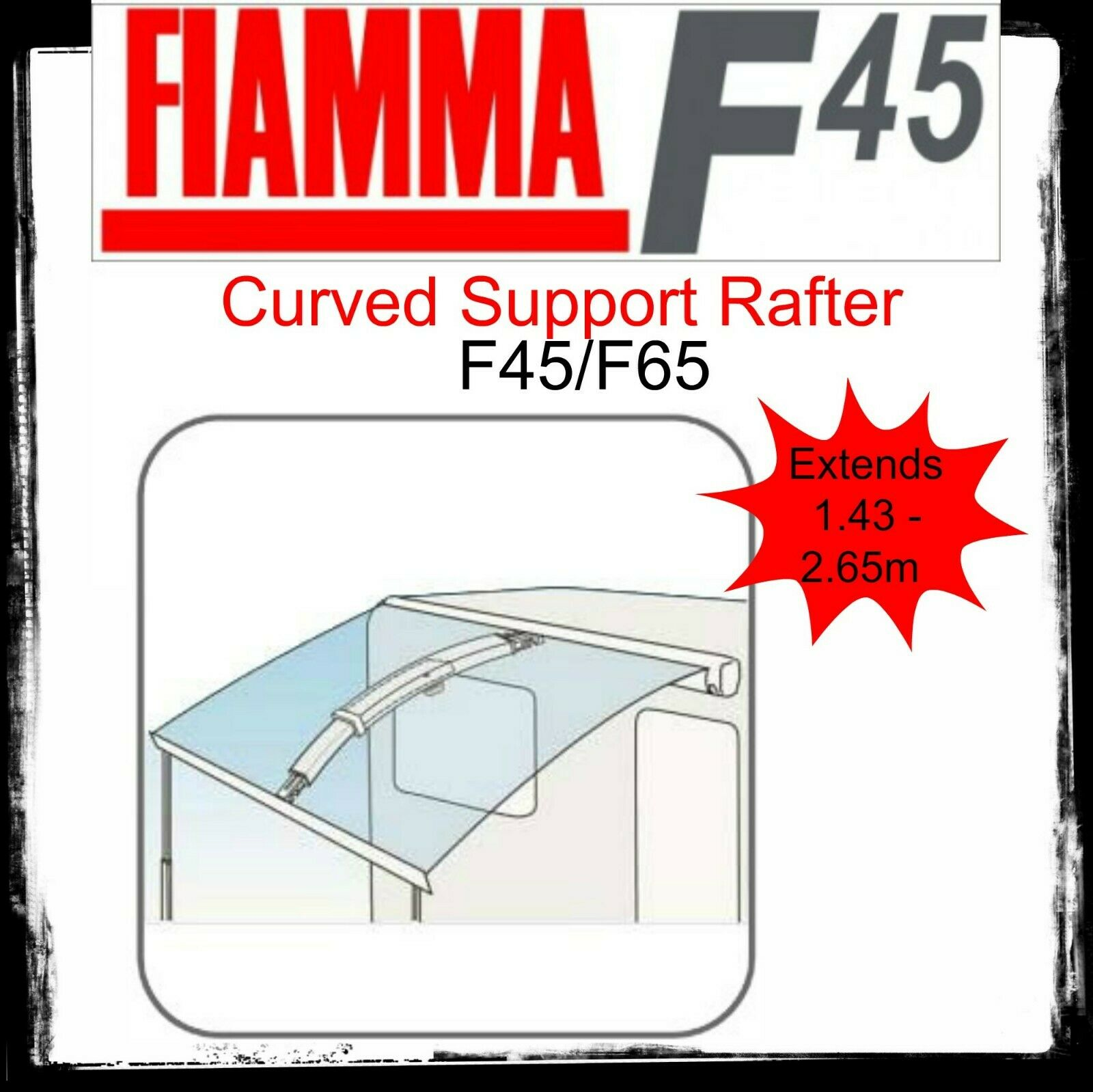 Fiamma Curved Center Awning Support Rafter Pro For F45